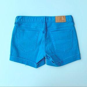 Madewell Blue Cuffed Denim Jean Shorts